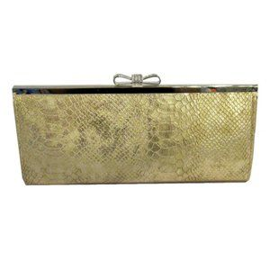 INC CONCEPTS CAROLYN Gold Exotic Clutch Bag $49.00